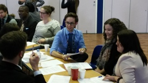 Chris instructing his leading ladies (& Jez) on the task ahead
