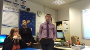 Sophia and Seamus delivering their session on how we help all learners acheive