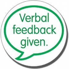 verbal feedback#