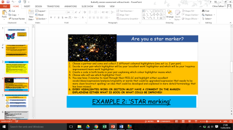 star marking